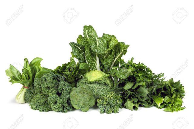 Les légumes à feuilles verts foncés