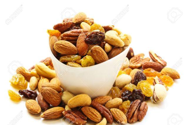 Les noix et fruits secs